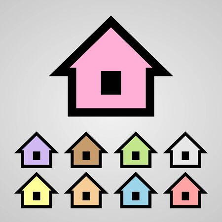 abode: home icons set great for any use. Vector EPS10. Illustration
