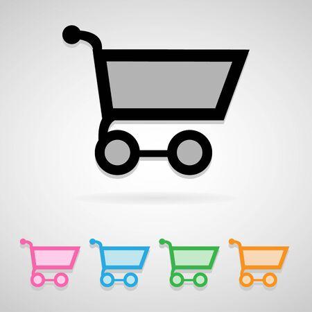 icon shopping cart: Einkaufswagen-Symbol f�r jede m�gliche Anwendung. Illustration