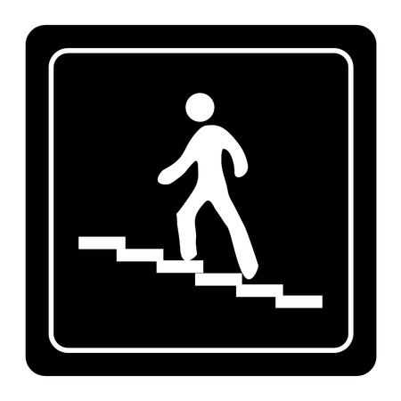 bajando escaleras: iconos escaleras establecen grandes para cualquier uso.