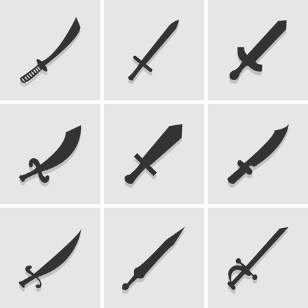 medieval sword: sword icon great for any use.