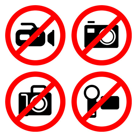 no cameras allowed: camera icon great for any use.  Illustration