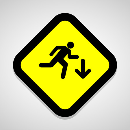 pedestrian walkway: walk icon icon great for any use. Vector EPS10.