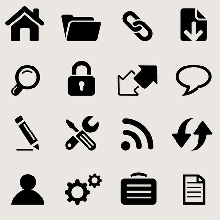 windows icons set great for any use. Vector EPS10. Vector
