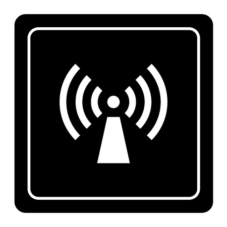 cell phone transmitter tower: wifi icon great for any use.