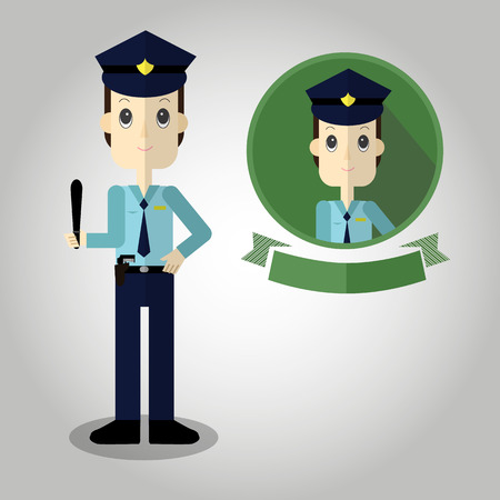 k9: Police Mascot cartoon great for any use.  Illustration