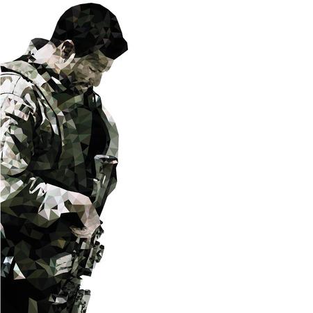 Soldat Mascot grande pour toute utilisation. Banque d'images - 38435992