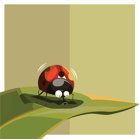 lady bug: Marienk�fer-Maskottchen-Cartoon f�r jede m�gliche Anwendung. =