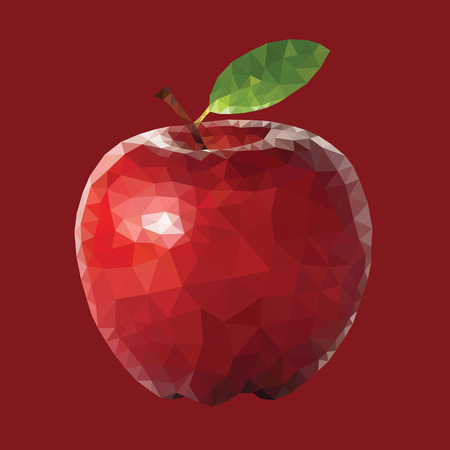 simple cross section: apple icon great for any use.  Illustration