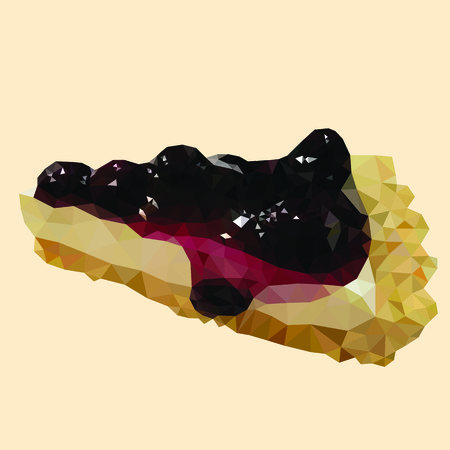 blueberry pie: blueberry pie icon great for any use.