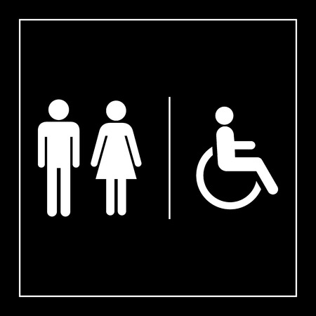 Toilet icon great for any use.  Vector