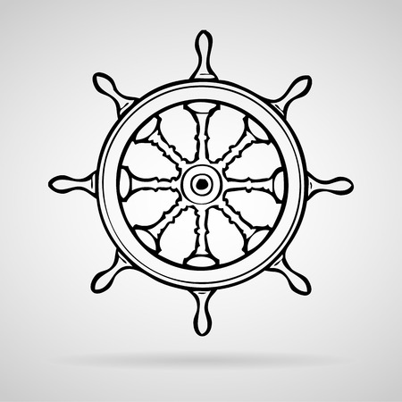wheel  boat icons set great for any use.