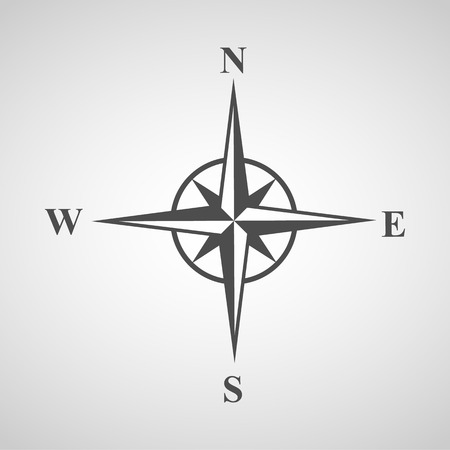 wind rose: compass icons set great for any use. Illustration