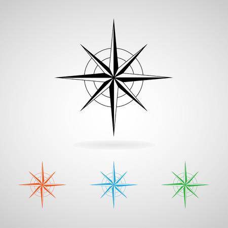 compass icons set great for any use.