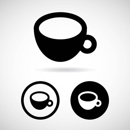 great coffee: coffee cup icons set great for any use.