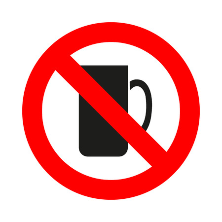 great coffee: No Coffee Cup icon great for any use. Illustration