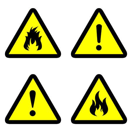 advertencia: iconos de advertencia establecen grandes para cualquier uso.