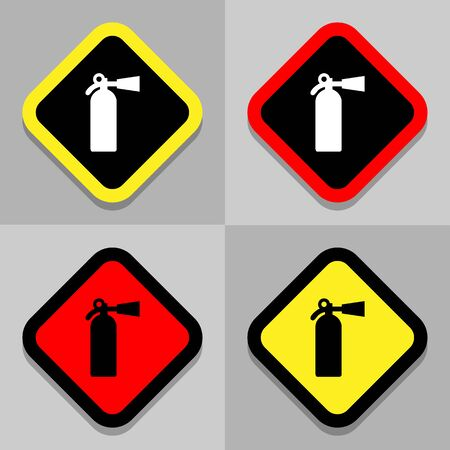 disaster prevention: Fire Extinguisher icons set great for any use.