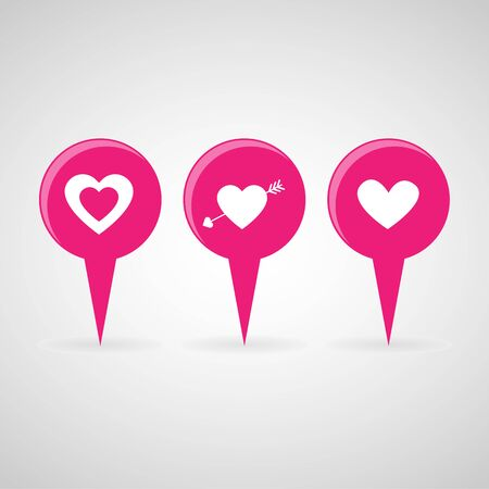 medical questions: Heart icons set great for any use. Illustration