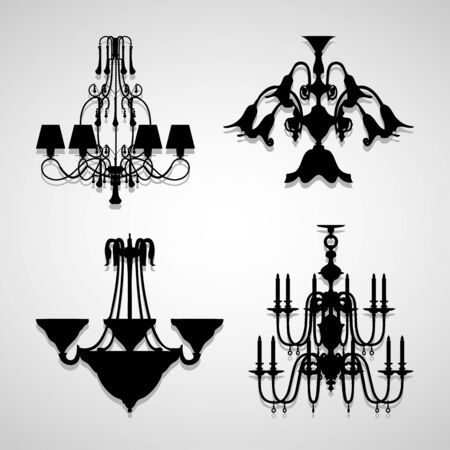 Chandelier icon great for any use.  Vector