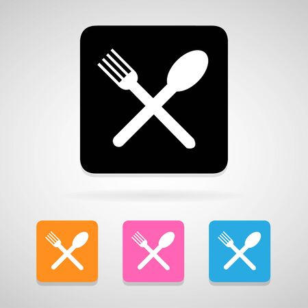 fork and spoon: fork spoon icons set great for any use.  Illustration