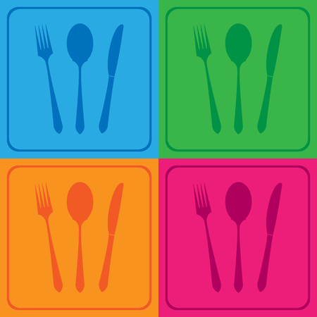 fork knife: fork knife spoon icons great for any use.