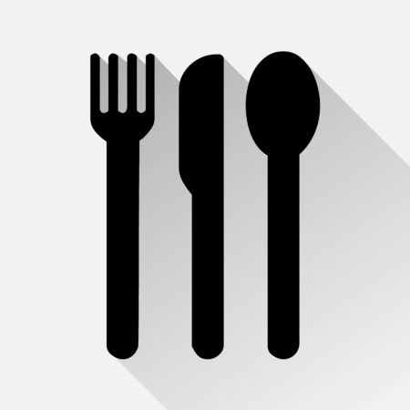 fork knife spoon: fork knife spoon icons great for any use.