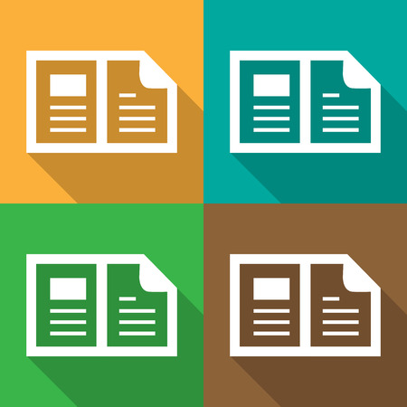 Documents icon great for any use.  Vector