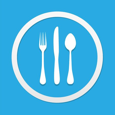 fork knife: fork knife spoon icons great for any use. Illustration
