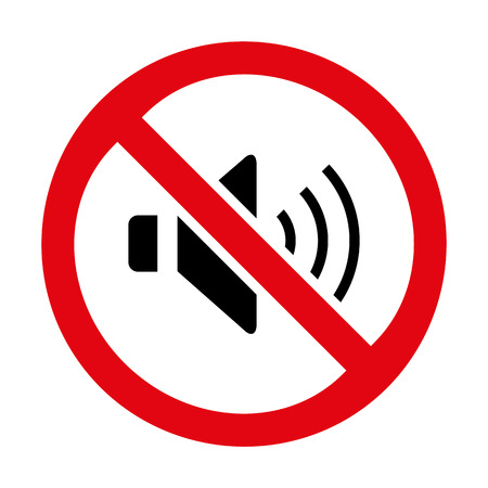 No Sound Sign icon great for any use.  Иллюстрация