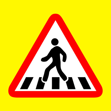 pedestrian walkway: cross walk  icon great for any use. Illustration