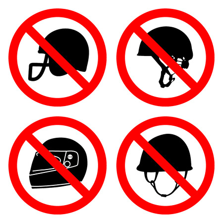 forbidden to pass: no helmet sign great for any use.