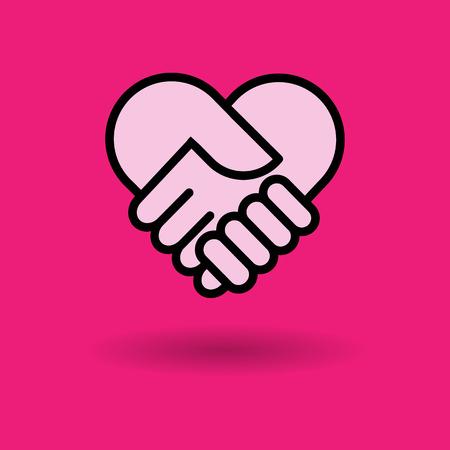 corazon en la mano: comprobar icono de corazón de la mano grande para cualquier uso.