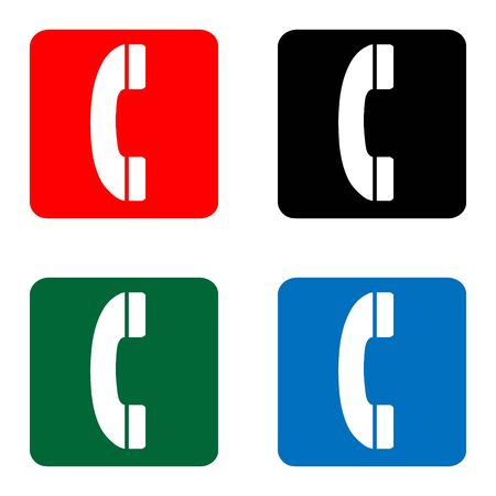 telephone icons: telephone icons great for any use.  Illustration