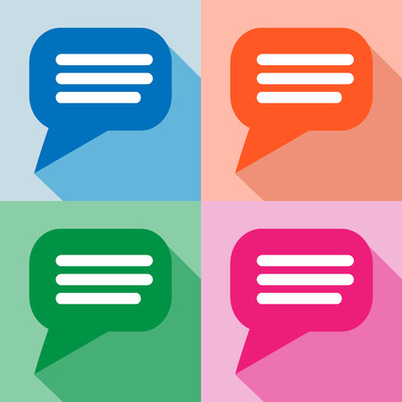 Blank empty speech bubbles icons set great for any use.  Vector