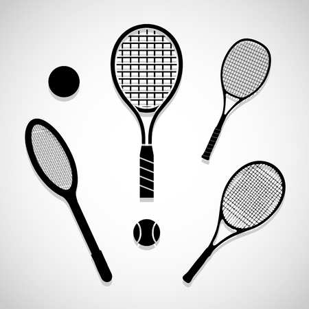tennis shoe: tennis icon set great for any use.  Illustration