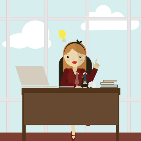 desk job: Working Women icon great for any use.