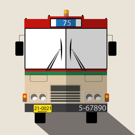 Bus number 75 icon great for any use.  photo
