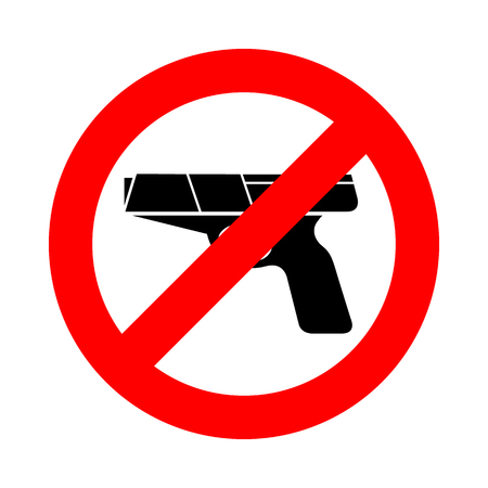 No gun icon great for any use. Vector EPS10. photo