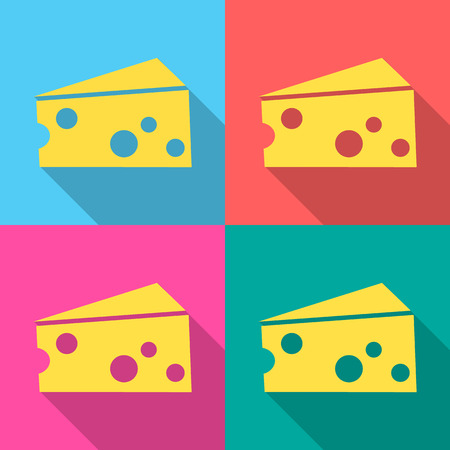 parmesan: cheese icon great for any use. Vector  Stock Photo