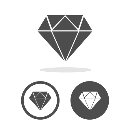 dimond: Dimond icons set great for any use.  Stock Photo