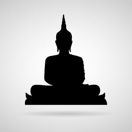 buddha face: Buddha icon great for any use. Vector Stock Photo