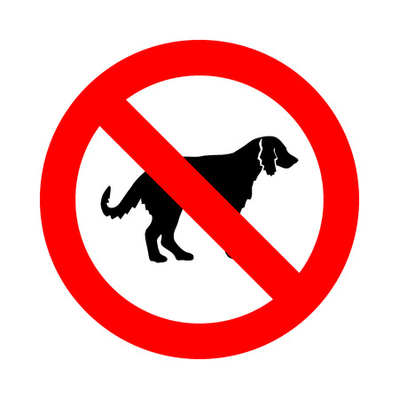 illegal zone: no dog icon great for any use. Vector