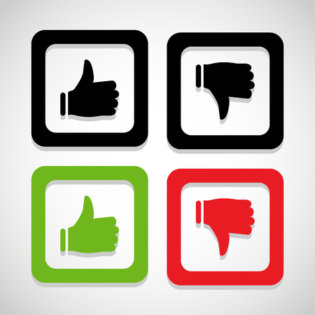 unlike: like and unlike icon great for any use. Vector  Stock Photo