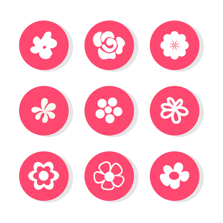 orange flower: Flower icon great for any use. Vector .