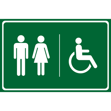 toilet sign: Toilet icon great for any use. Vector .