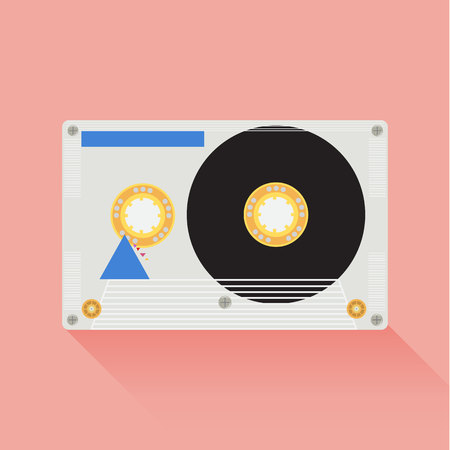 audio cassette: Audio cassette icon great for any use.