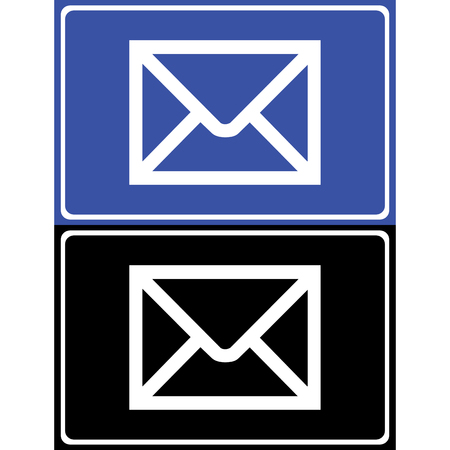 reply all: E-mail icons set great for any use. Vector Stock Photo
