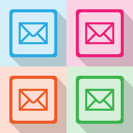 reply all: E-mail icons set great for any use. Vector