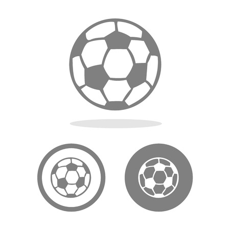 footie: Football icon great for any use. Vector Stock Photo