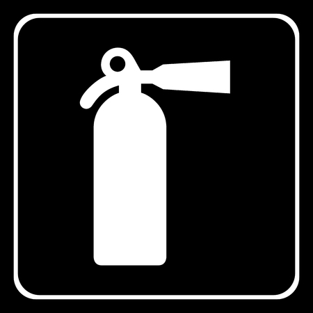 extinguishing: fire extinguisher icon great for any use. Vector